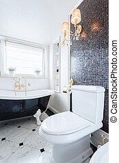 fürdőszoba, alatt, baroque mód