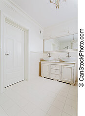 fürdőszoba, alatt, retro mód