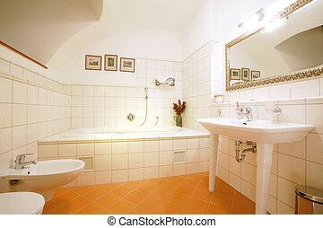 fürdőszoba, fényűzés
