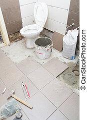 fürdőszoba, helyreállítás