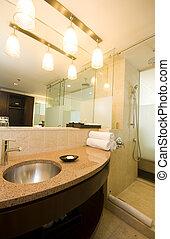 fürdőszoba, hotel, fényűzés, rév, spanyolország, trinidad