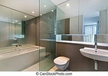 fürdőszoba, közül, a, pazar, épület