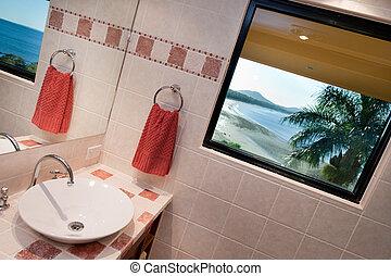 fürdőszoba, kilátás