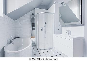 fürdőszoba, mód, klasszikus