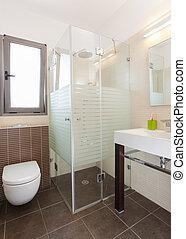 fürdőszoba, modern