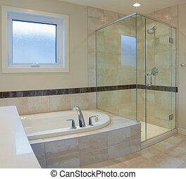 fürdőszoba, tervezés, belső