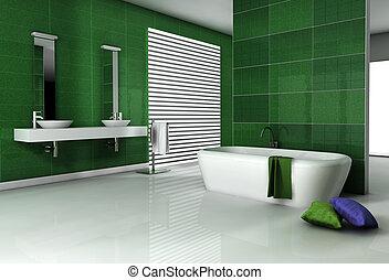 fürdőszoba, tervezés, kortárs