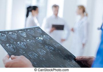 fürkész, radiologic, munka, elemzés, profi, technologist, ct