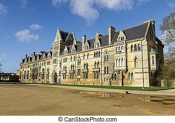 főiskola, uk, templom, oxfordshire, krisztus, oxford