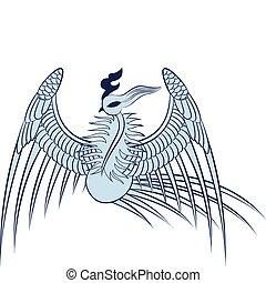 főnix madár, ábra