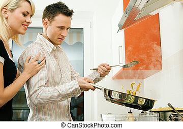 főzés, együtt