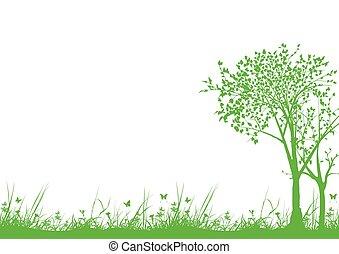 fű, bitófák