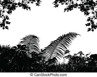 fű, levél növényen, háttér