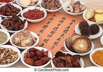fűszernövény, kiválasztás, kínai