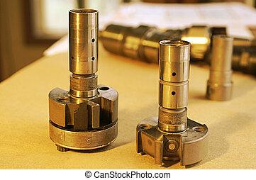 fűtőanyag, befecskendezés, roters, dízel, pumpa
