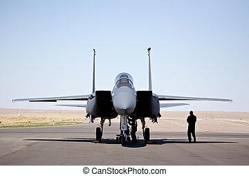 F-15 strike eagle - military aircraft - F-15 strike eagle on...
