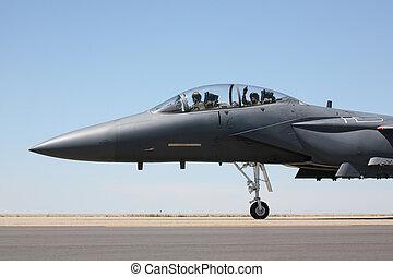 f-15, taxifahrzeuge, cockpit, ansicht