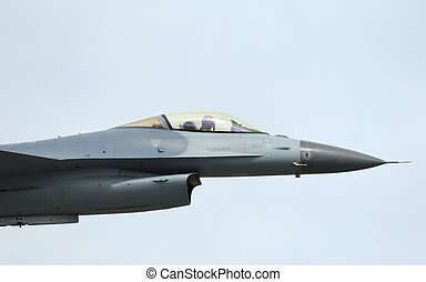 F-16 Fighter Falcon in airshow