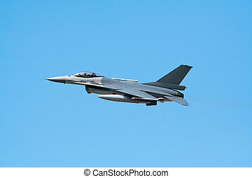 F-16 fighterjet - F-16 fighter flyby