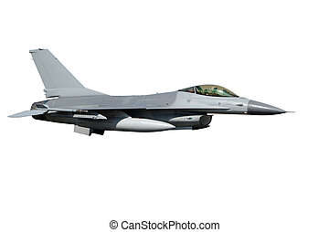 F-16 isolated - isolated F-16 jet fighter plane