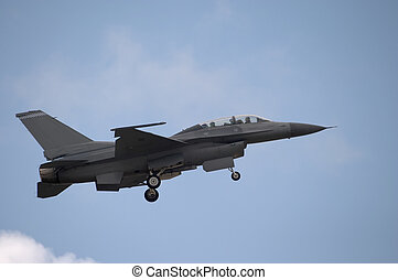 F-16 Landing - An F-16 jet coming in for a landing