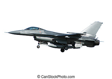 F-16 war plane isolated on a white background