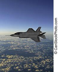 F-35 modern stealth fighter - Artist impression of F-35...