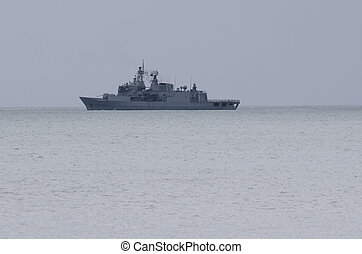 f-77, doutless, bahía, nz, patrullar, fragata