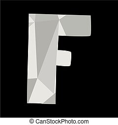 F alphabet letter isolated on black