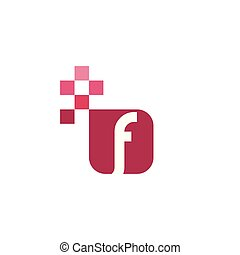 F Font Vector Template Design