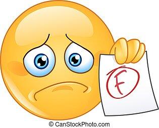 F grade emoticon