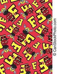 F is for Fireman Zebra Pattern