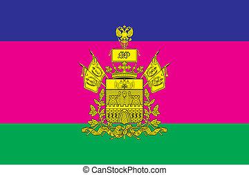 F krasnodar kray - Various vector flags, state symbols, ...