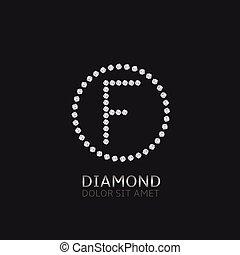 f letra, diamantes