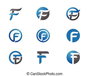 F Letter Logo Business Template Vector icon
