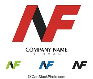 f letter data tech logo concept letter with data vector template