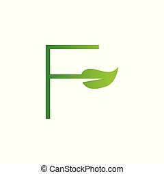 f, logo, blatt, brief, entwerfen elemente