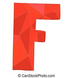 F red alphabet vector letter