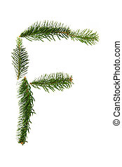 F - symbol from christmas alphabet