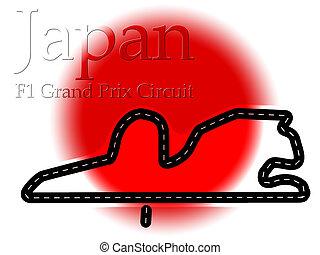 f1, 1, circuito, fórmula, fuji, japão, correndo