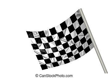 f1, drapeau, gagnant