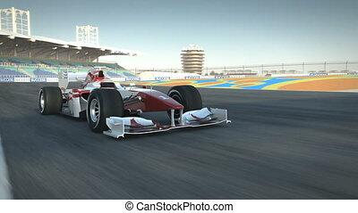 F1 race car on desert circuit