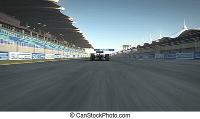F1 racecar stopping