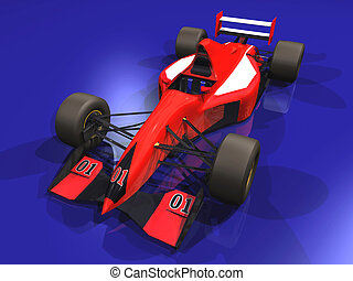 F1 red racing car #1