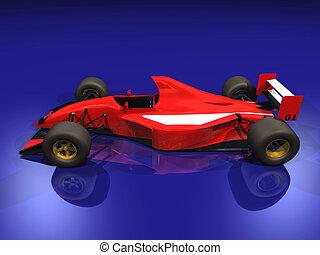 F1 red racing car #2