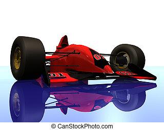 F1 red racing car #4