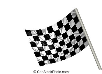 F1 winner flag - A F1 flag with checkered pattern
