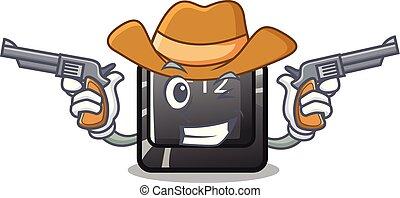 f12, knoop, toetsenbord, mascotte, cowboy