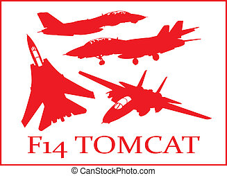 F14 fighter plane. - A series of F14 Tomacat fighter plane...