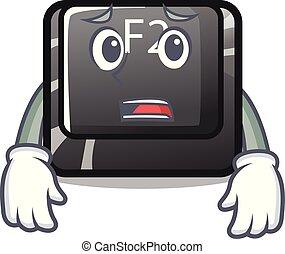 f2, 恐れている, 特徴, ボタン, 隔離された